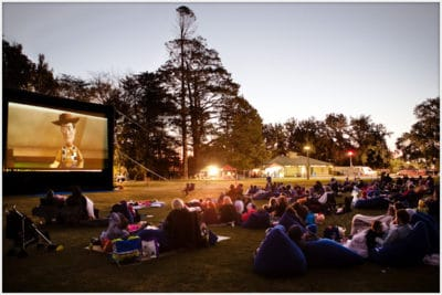 10m blow up movie screen for community event