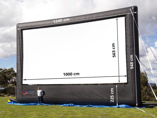dimensions of inflatable screen