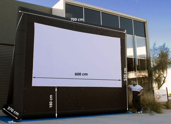 Big inflatable cinema systems screens