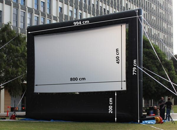 8 m inflatable outdoor projector screen dimensions