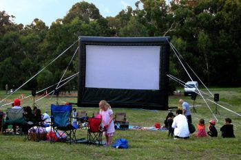 Big inflatable movie screen 8 m wide