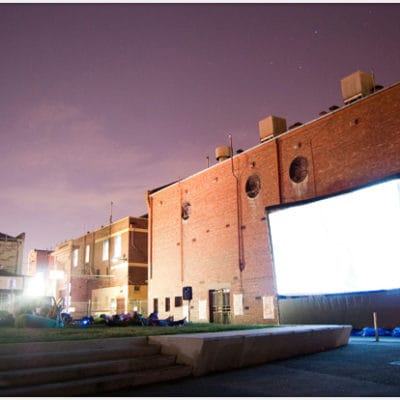 Touring Cinema System with 8 m big inflatable screen
