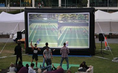 Sports clubs leverage outdoor movies to create more fun and more fitness