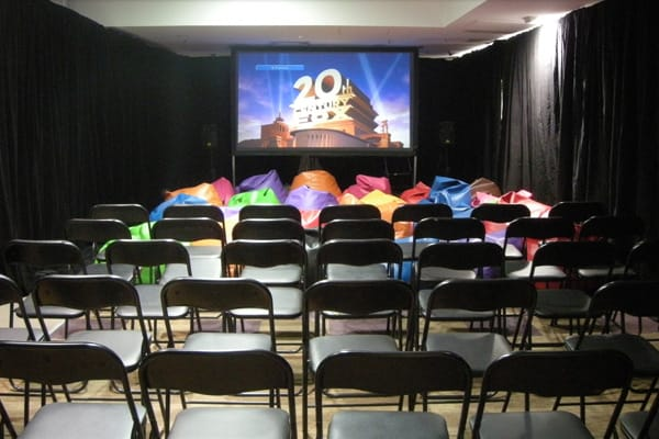 Indoor projector screen system