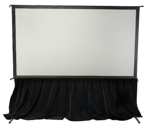 Foldable screen with a skirt
