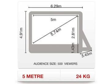 5m ParkView screen - one of the most popular inflatable movie screens