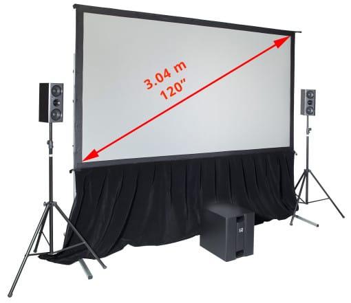Indoor movie projector screen SmartFold 120