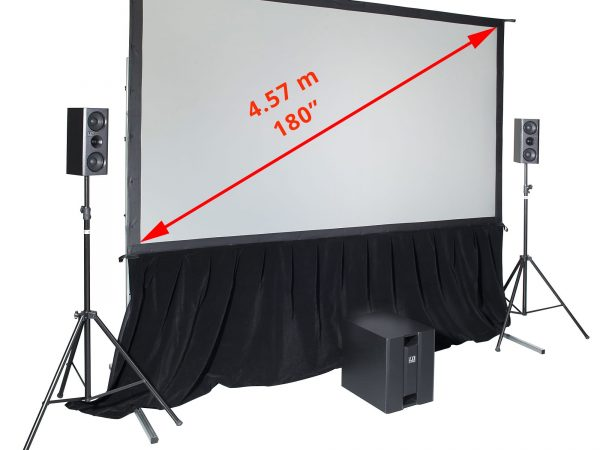 projector screen indoors SmartFold System 180