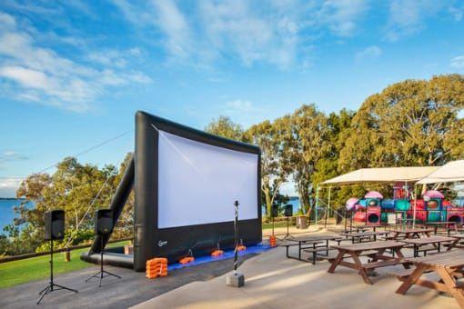 Big inflatable cinema