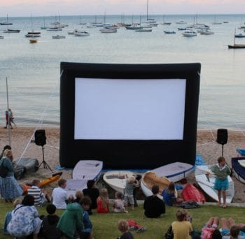 Inflatable Projector Screens make outdoor entertainment easy