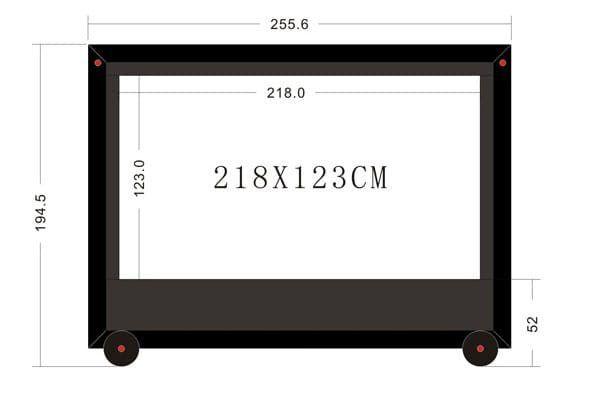 2.5 metre outdoor TV screen
