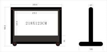 2.5 metre inflatable screen