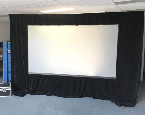 Fastfold screen draped