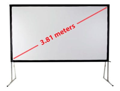 front and rear projection screen 150""