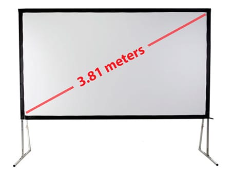 front and rear projection screen 150