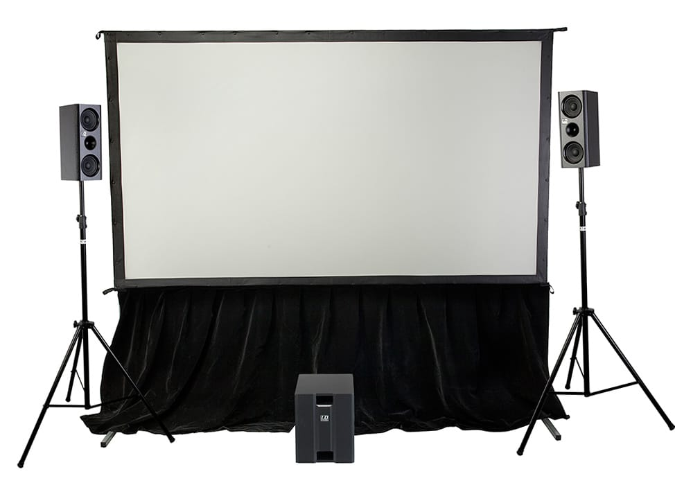 SmartFold Indoor portable projector screens and complete packages