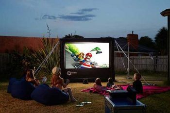 outdoor home theatre projector for backyard party