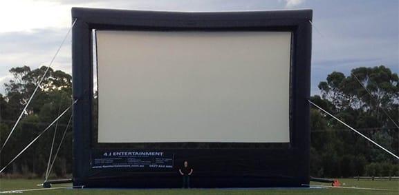 12 m giant inflatable movie screen Tasmania
