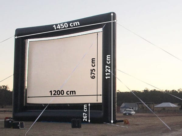12 m wide touring outdoor cinema screen
