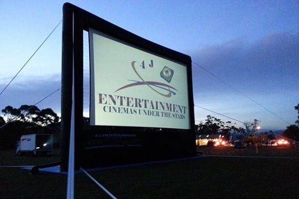 Giant open air cinema screen