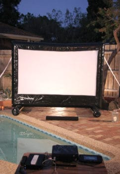movie night by the pool