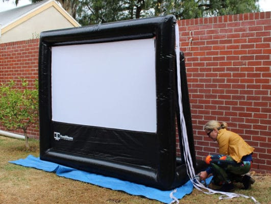 3m wide inflatable movie screen