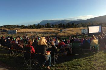 Outdoor movie theatre - new feature of Holiday Parks