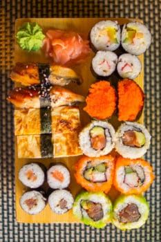 sushi to complement your movie night