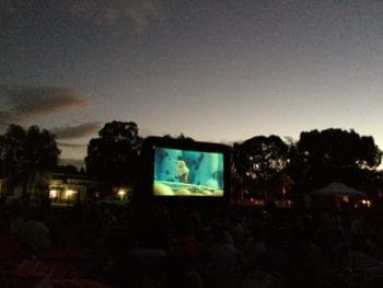 Movie night at a primary school
