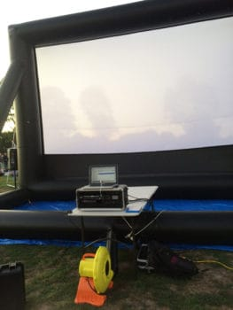 inflatable screen with 1HP blower