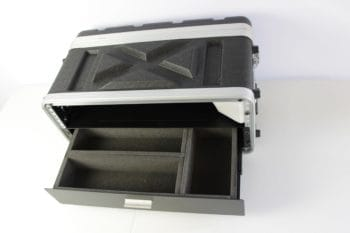ABS rack case with a drawer