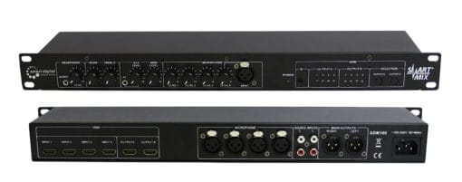 Professional 6 channel audio mixer