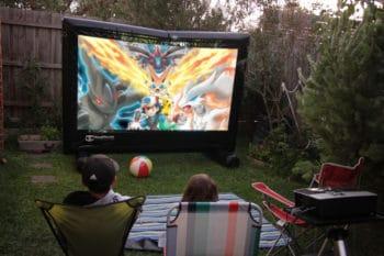 Backyard pokemon movie night