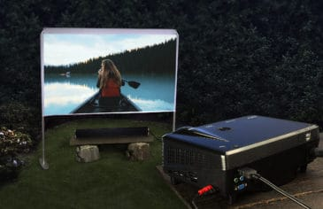 portable screen movie system