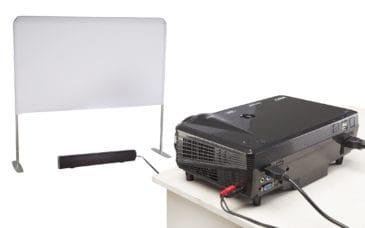portable screen, projetor and soundbar