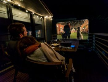 HandiTheatre light backyard cinema package
