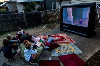 Backyard movie fun