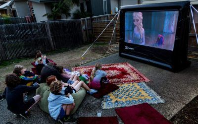 Backyard Movie Nights Bring Families Together