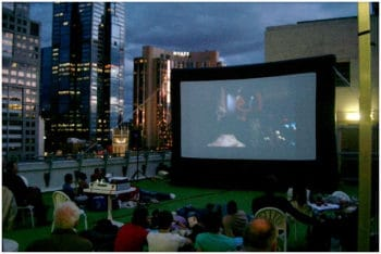 outdoor cinema for office Christmas party