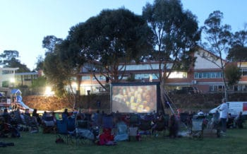 outdoor cinema - easy fundraiser for schools