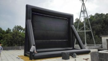 rear view of the inflatable movie screen