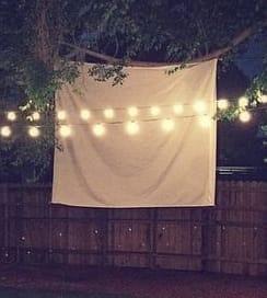 handing bedsheet is a poor projection screen