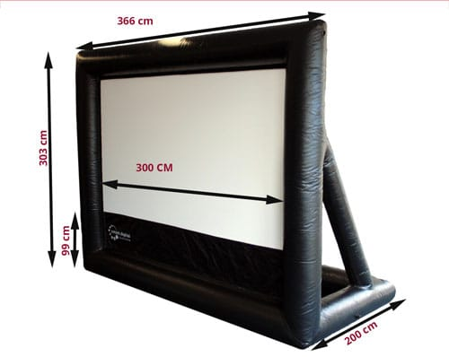 3 m wide screen dimensions