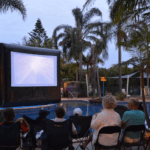 movie night at a Big4 holiday park