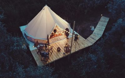 Glamping with HandiTheatre® Explorer Portable Cinema