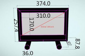HS140 Screen Size