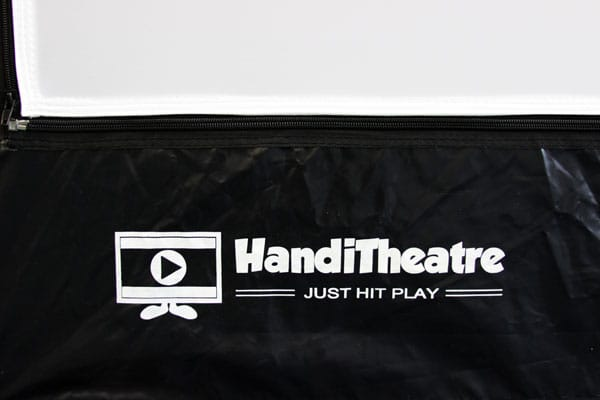 fragment of the screen skirt with the logo